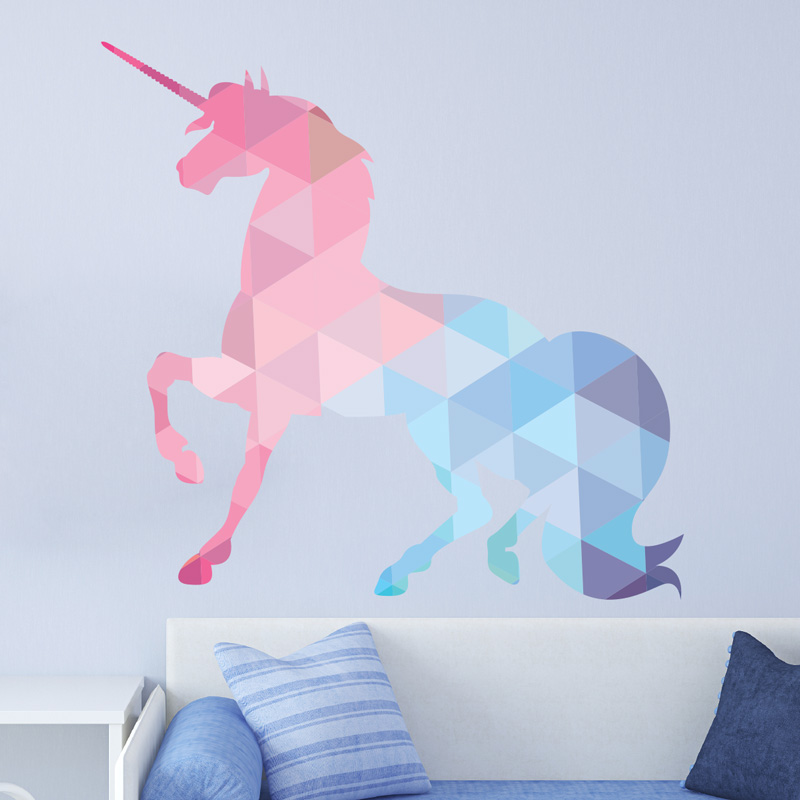 Sticker origami la licorne stickers chambre ado fille for Stickers chambre ado fille