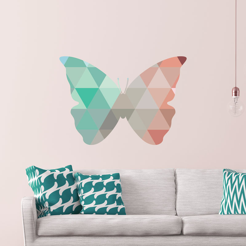 sticker origami le papillon stickers animaux papillons ambiance sticker. Black Bedroom Furniture Sets. Home Design Ideas