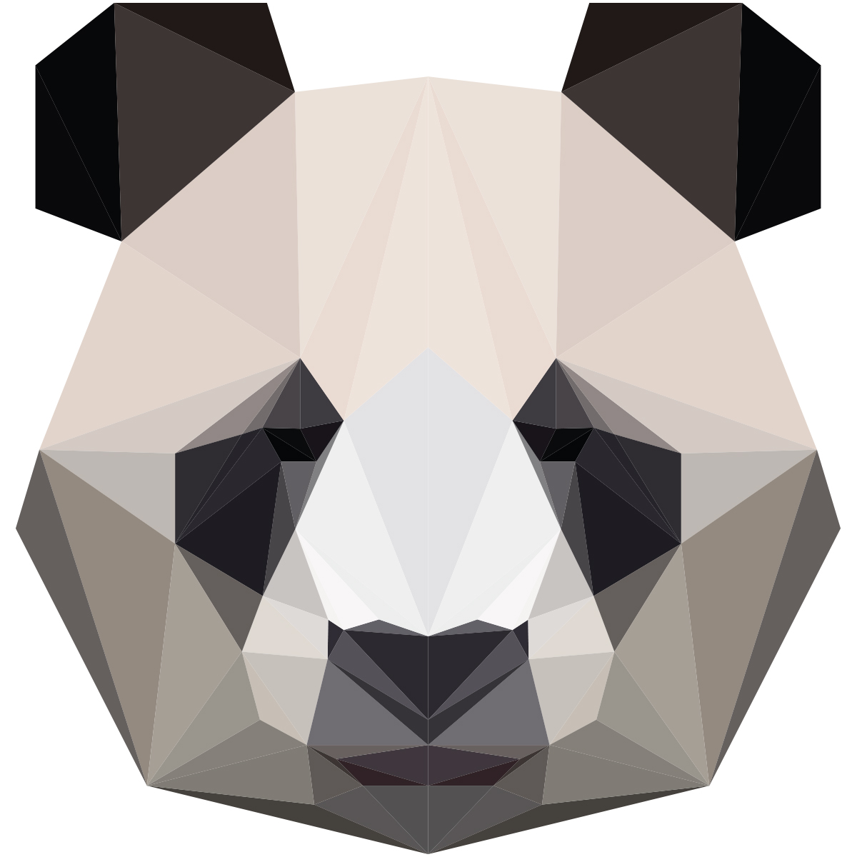 sticker origami panda � stickers chambre ado gar231on