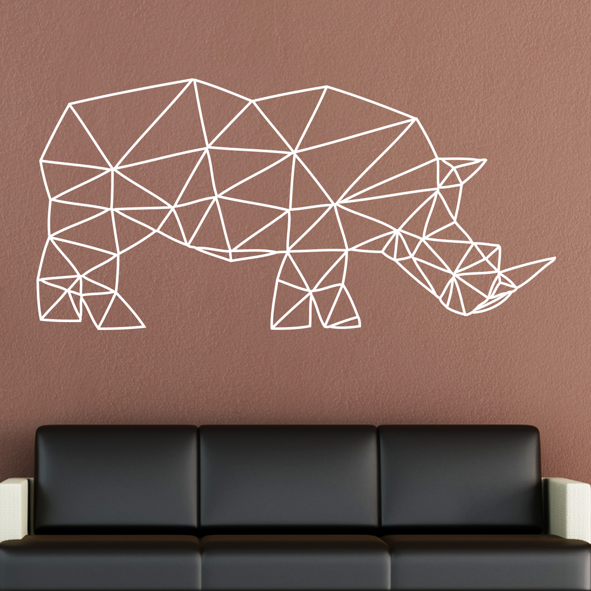 sticker origami rhinoc ros stickers animaux animaux d 39 afrique ambiance sticker. Black Bedroom Furniture Sets. Home Design Ideas