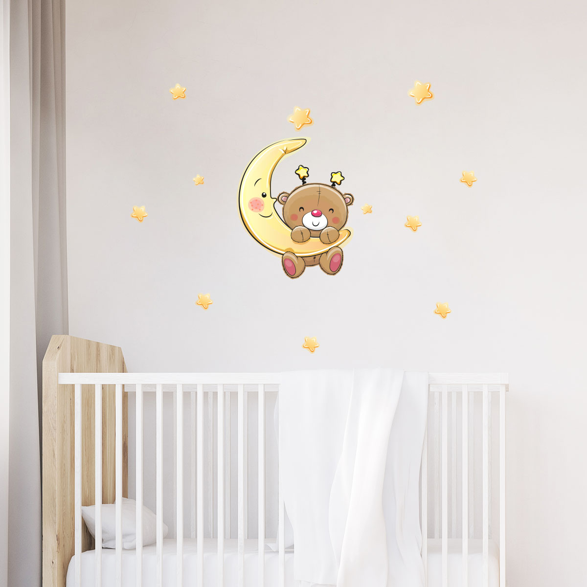 Sticker ourson va dormir stickers chambre enfants for Stickers ourson chambre bebe