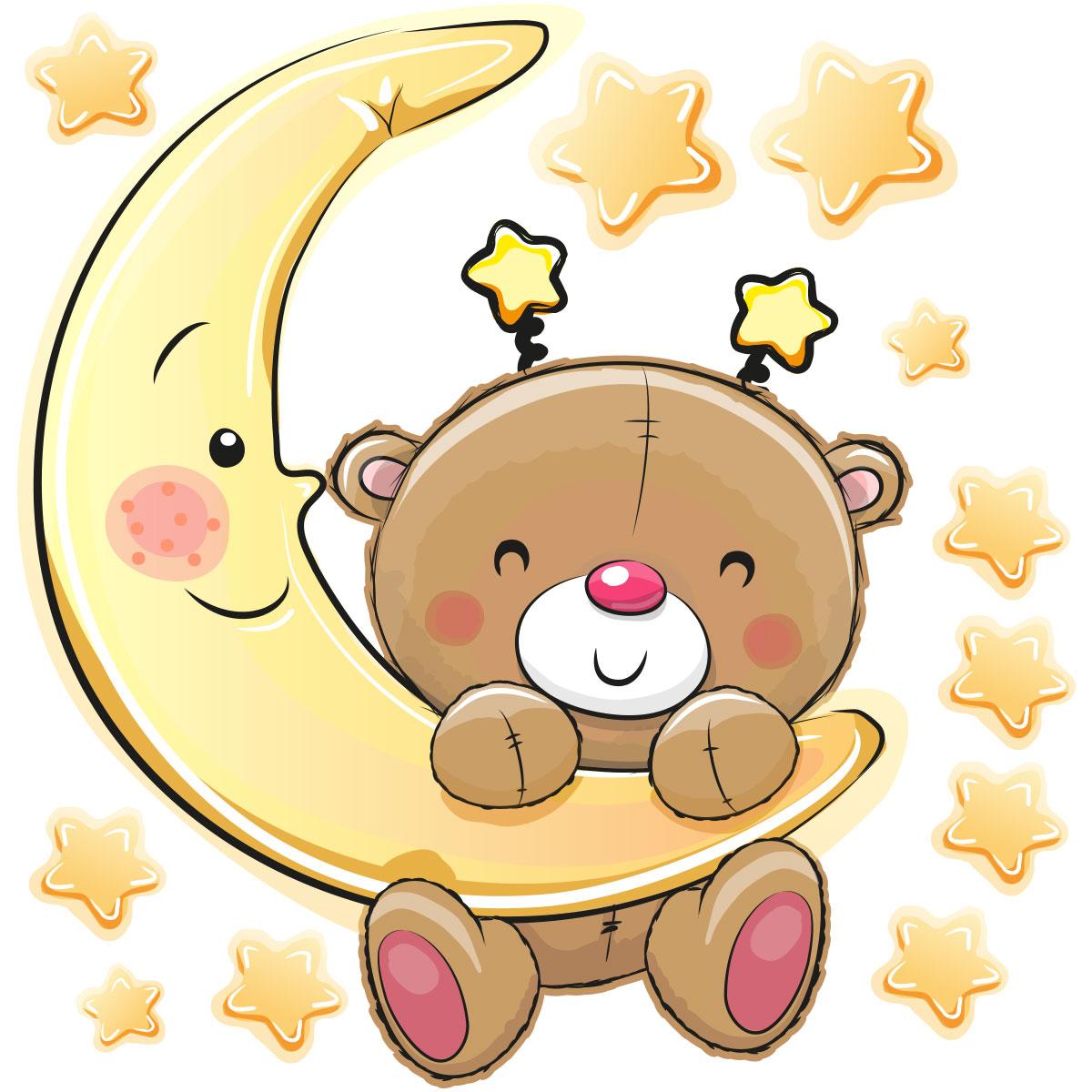 sticker ourson va dormir stickers chambre enfants chambre b b ambiance sticker. Black Bedroom Furniture Sets. Home Design Ideas