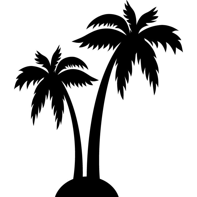 Sticker palmiers stickers d co pays et villes ambiance - Dessin palmier ...