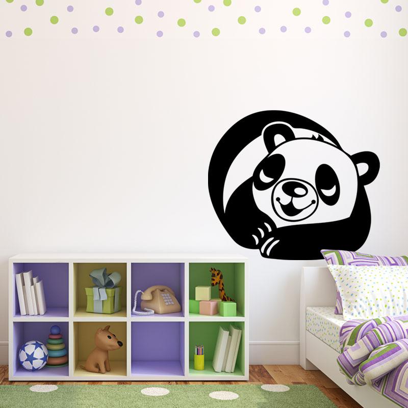 Sticker panda dormeur stickers b b s fille ambiance for Stickers panda chambre bebe