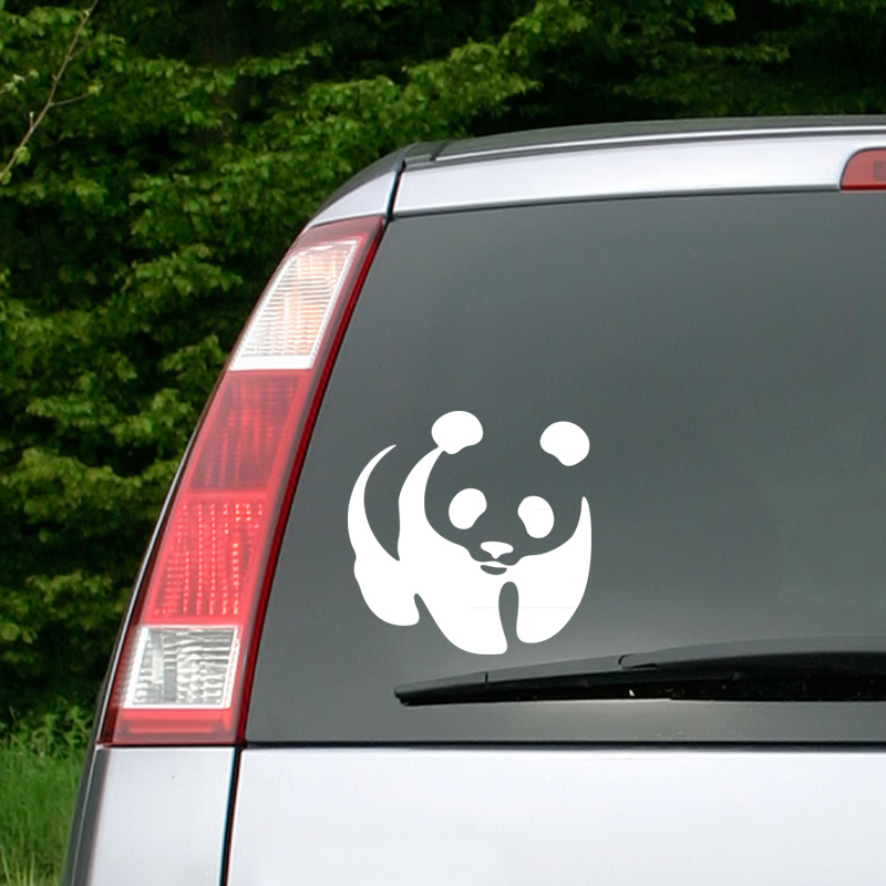 stickers et autocollants voiture sticker panda ambiance. Black Bedroom Furniture Sets. Home Design Ideas