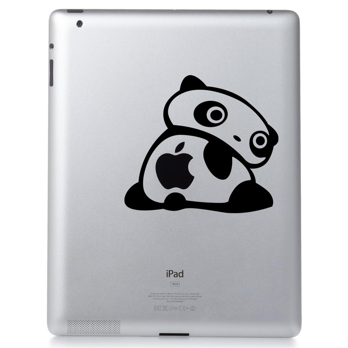 stickers ordinateurs portables sticker panda tourne autour ambiance. Black Bedroom Furniture Sets. Home Design Ideas