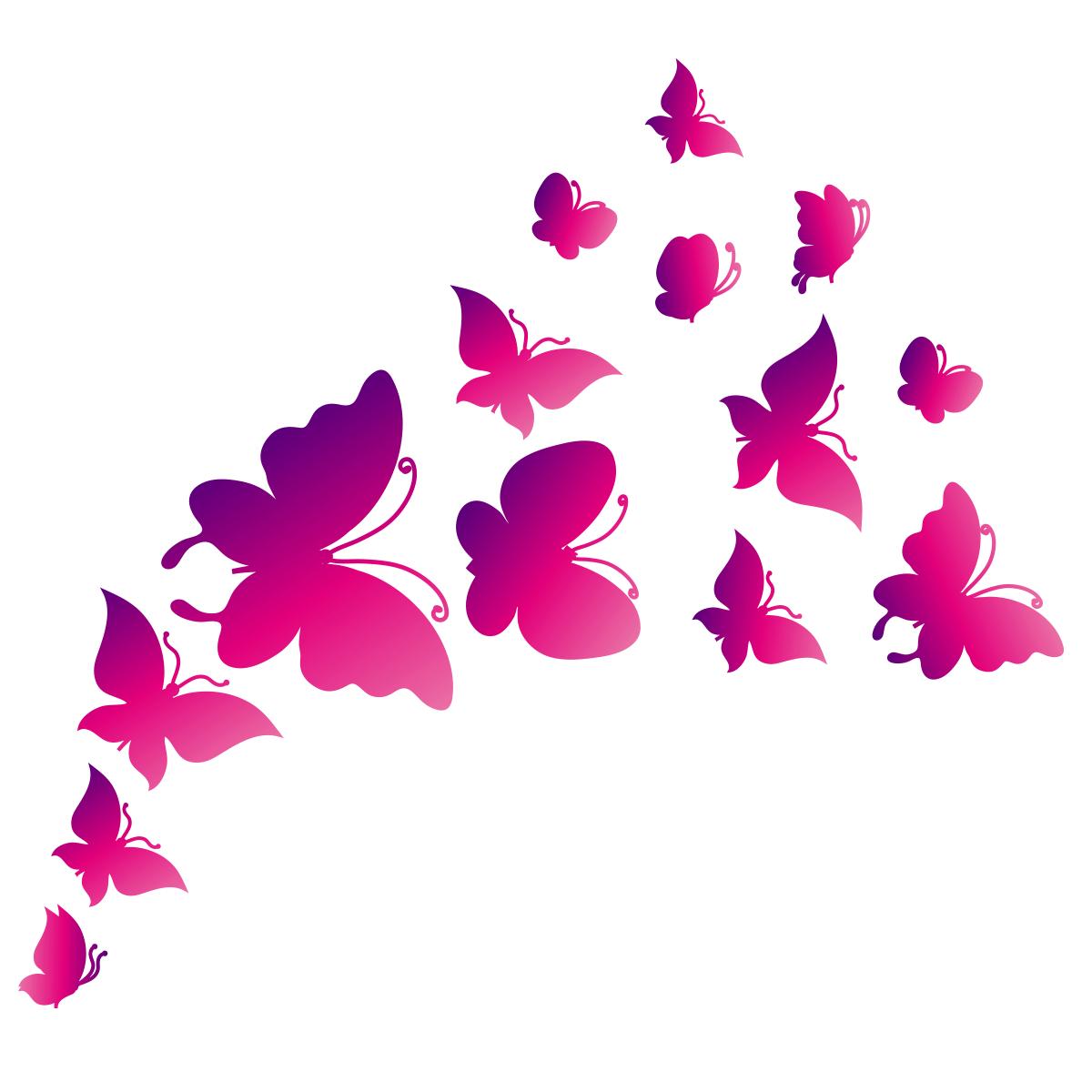 Mural Wall Design Stickers Papillons Rose Ciabiz Com