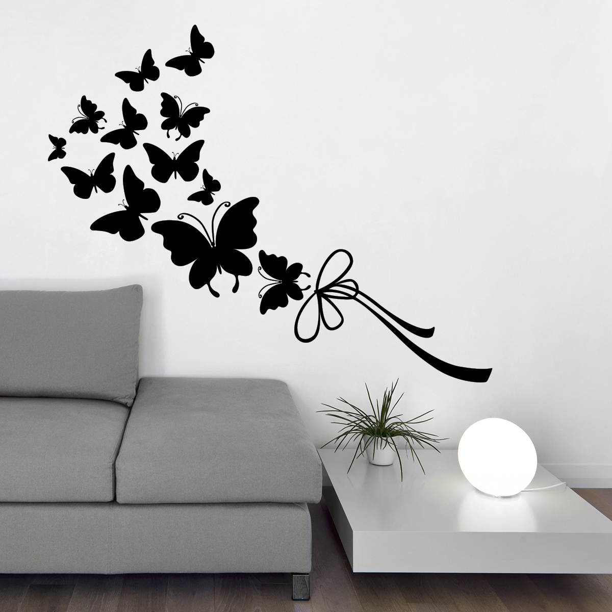 stickers muraux animaux sticker papillons et ruban ambiance. Black Bedroom Furniture Sets. Home Design Ideas