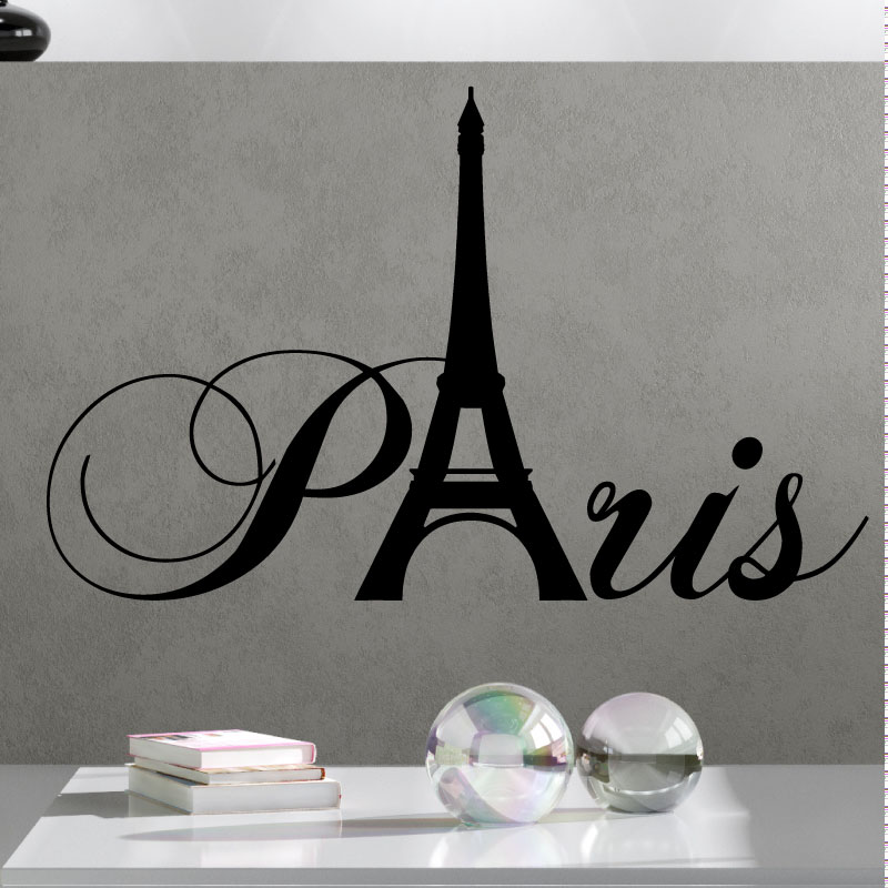stickers muraux pays et villes sticker paris avec la tour eiffel ambiance. Black Bedroom Furniture Sets. Home Design Ideas