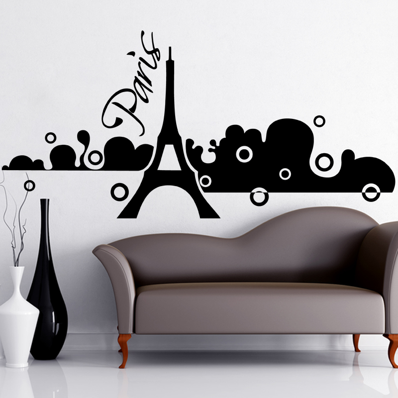 Stickers muraux paris sticker paris dans la brume ambiance - Stickers muraux paris ...