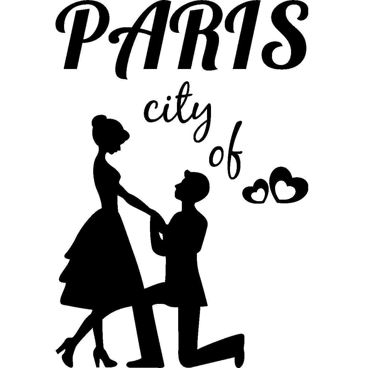 Stickers muraux paris sticker paris ville de l 39 amour ambiance - Dessin de l amour ...