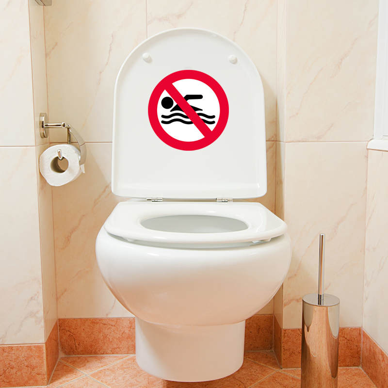 sticker baignade interdite stickers salle de bain ambiance. Black Bedroom Furniture Sets. Home Design Ideas