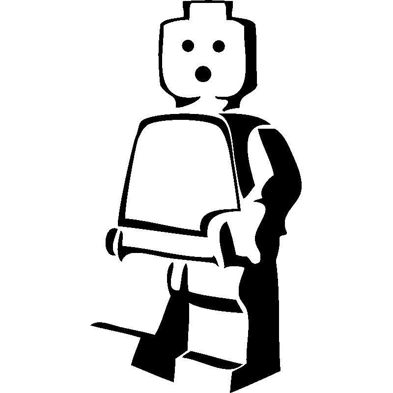 Sticker Personnage de lego - Mini stickers Fun - ambiance-sticker