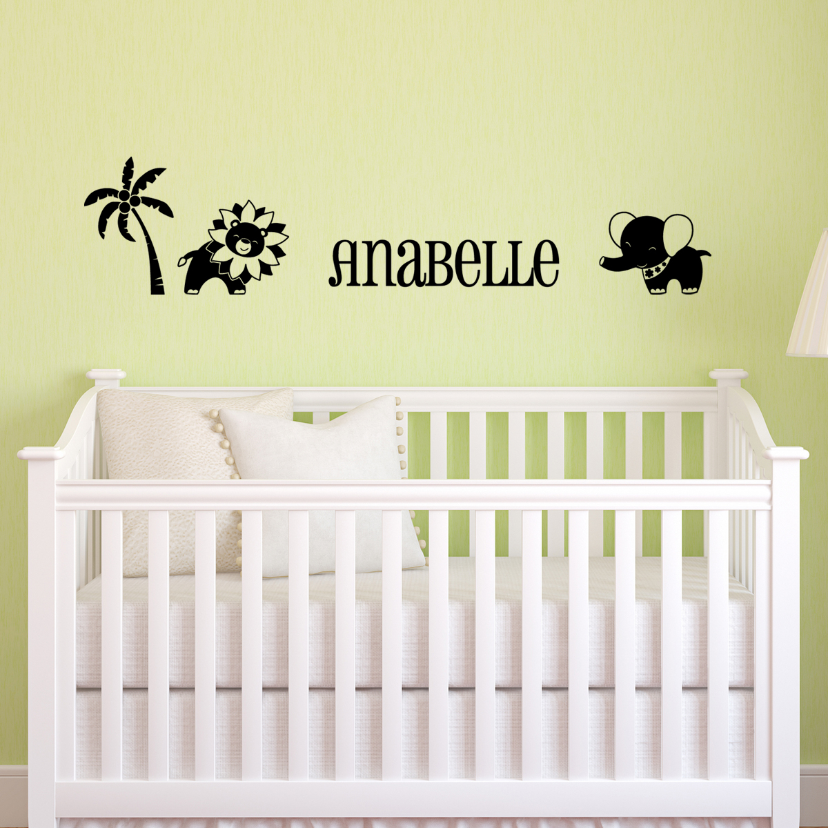 Stickers muraux animaux sticker jungle personnalis - Sticker mural personnalise ...