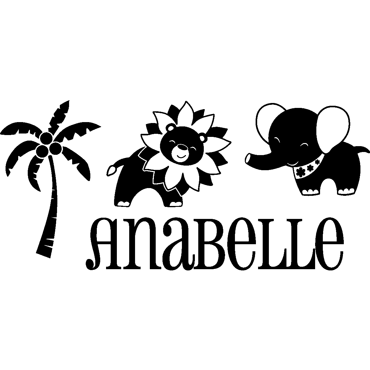 Stickers muraux animaux sticker jungle personnalis - Stickers muraux personnalise ...