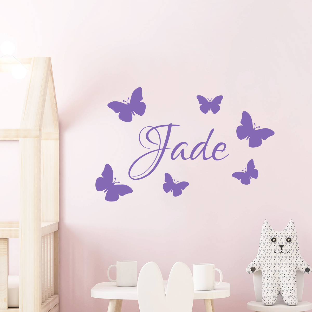 Sticker personnalis papillons stickers animaux - Sticker mural personnalise ...