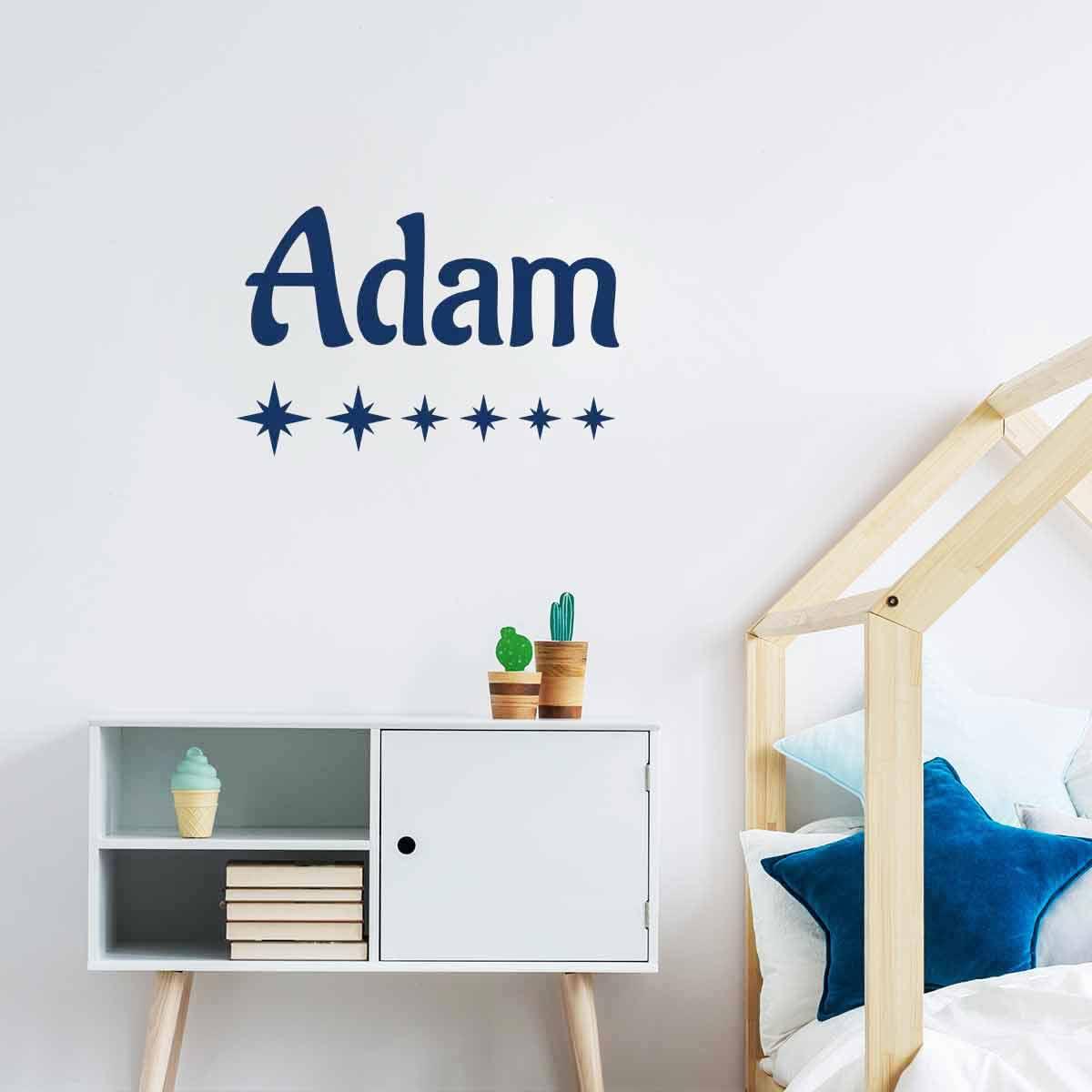 Pr nom personnalisable 2 stickers muraux chambre - Stickers prenom porte chambre ...