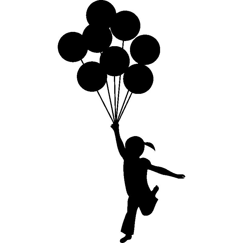 Sticker Banksy fille ballons - TenStickers