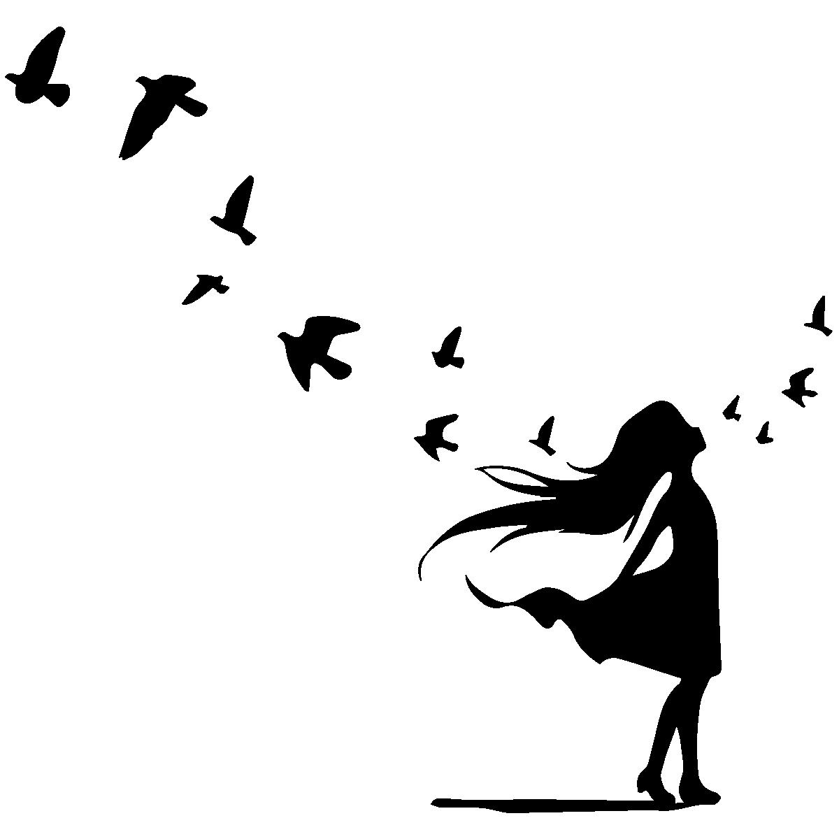 Stickers Oiseaux En Vol