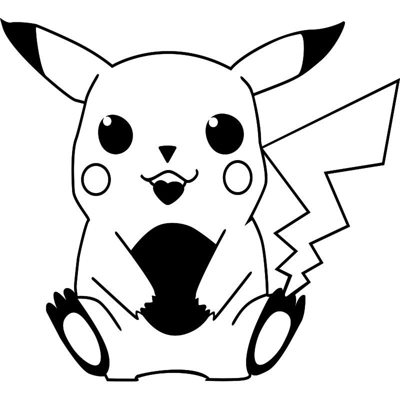 Sticker pikachu pokemon stickers dessins anim s mangas - Pikachu dessin anime ...