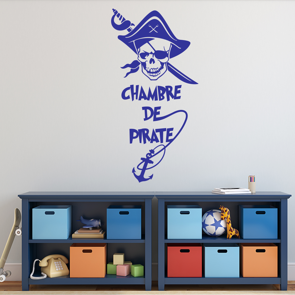 sticker pirate chambre d 39 enfant stickers citations. Black Bedroom Furniture Sets. Home Design Ideas