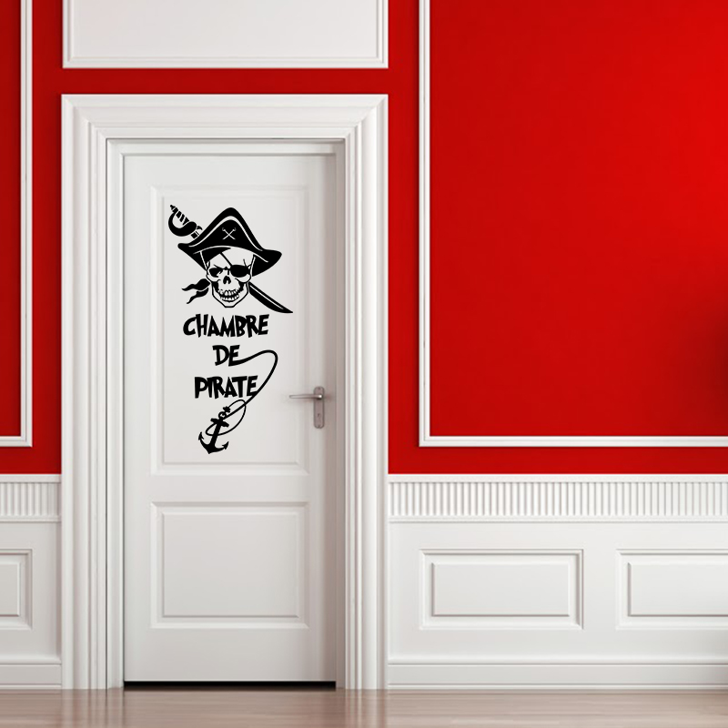 sticker pirate chambre d 39 enfant stickers citations enfants ambiance sticker. Black Bedroom Furniture Sets. Home Design Ideas