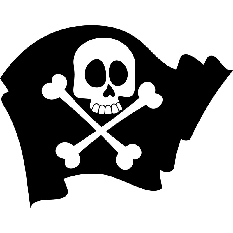 Sticker pirate drapeau avec la t te de mort stickers - Tete de pirate dessin ...