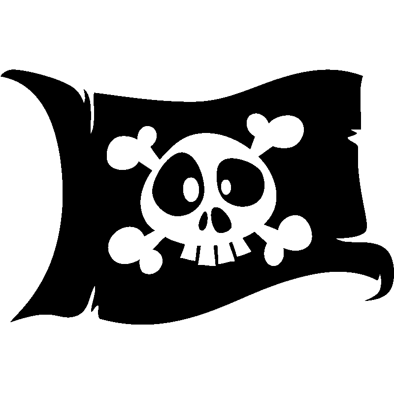 Sticker pirate le drapeau de t te de mort stickers b b s - Tete de pirate dessin ...