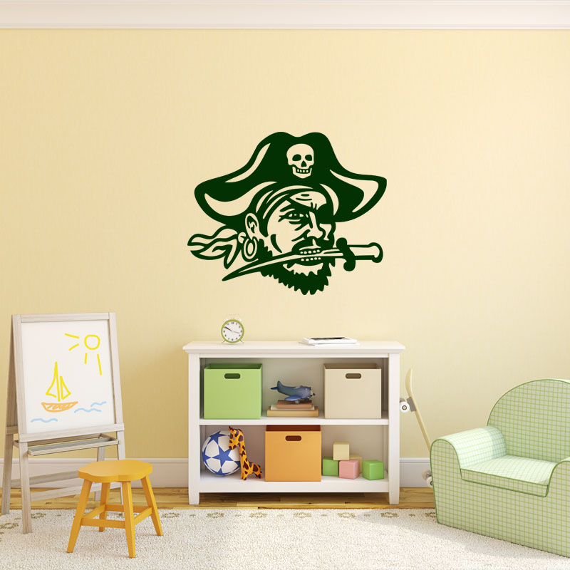 Sticker pirate portrait stickers chambre ado gar on for Stickers pour chambre ado garcon