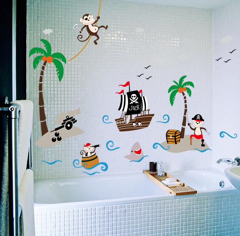 sticker pirates et bateau stickers animaux animaux de la jungle ambiance sticker. Black Bedroom Furniture Sets. Home Design Ideas
