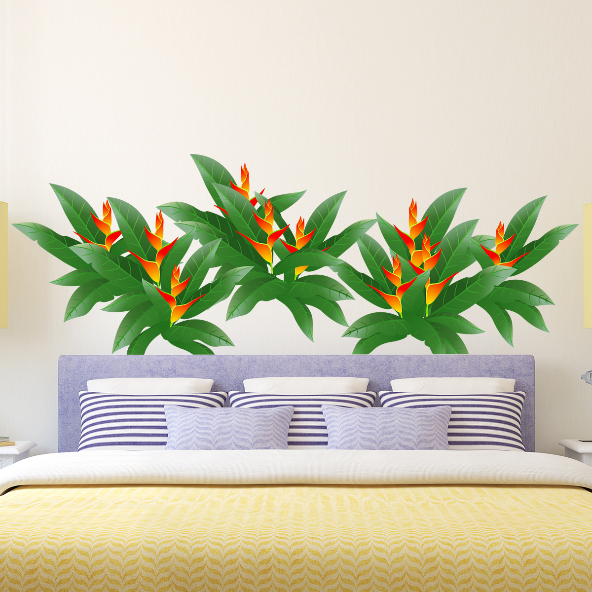 sticker plantes et fleurs design stickers nature fleurs. Black Bedroom Furniture Sets. Home Design Ideas