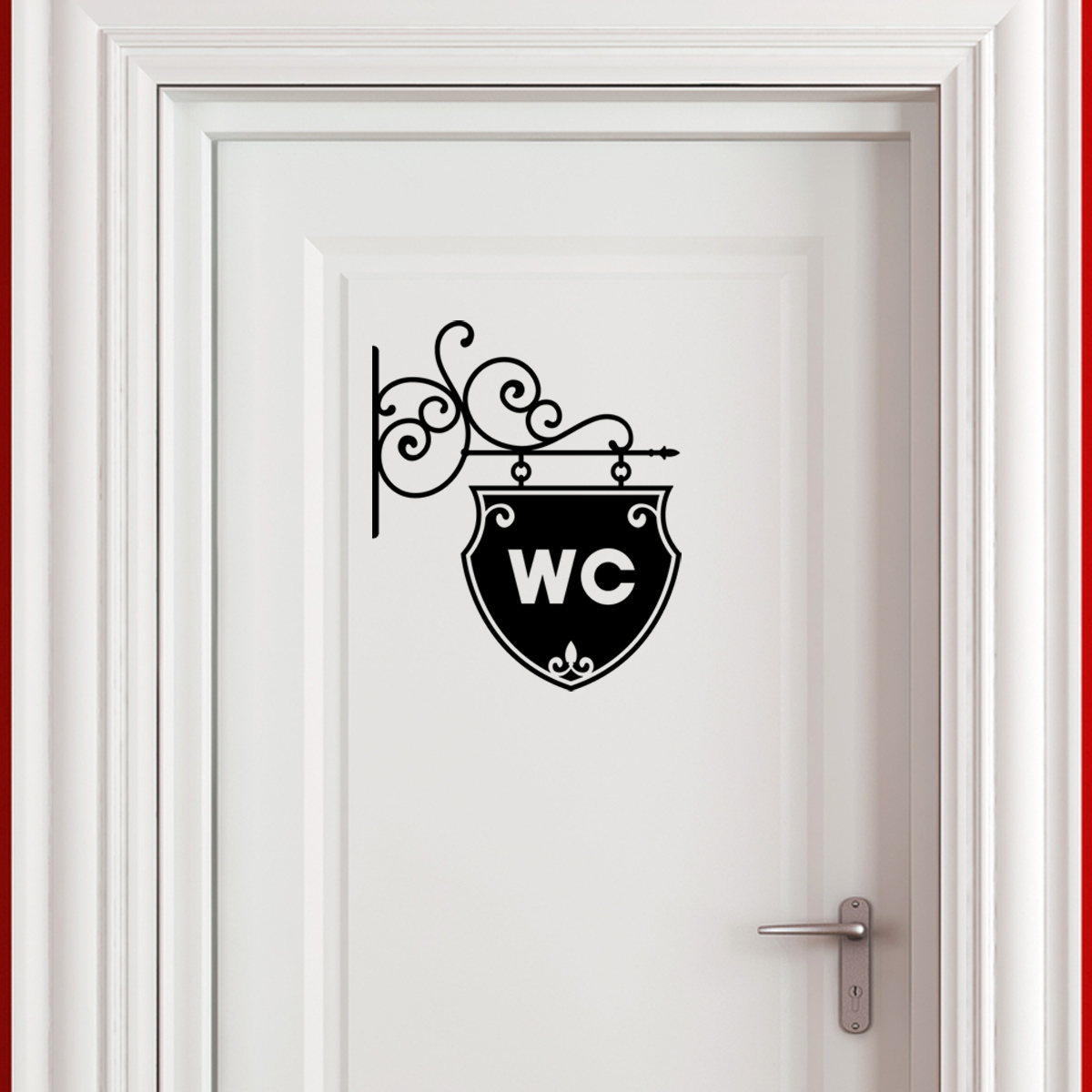 plaque de porte wc design poignee de porte interieur design deco maison moderne clenche with. Black Bedroom Furniture Sets. Home Design Ideas