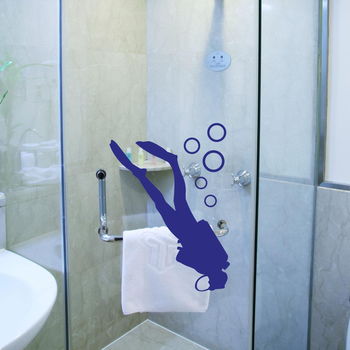 stickers muraux pour salle de bain sticker mural plongeur 1 ambiance. Black Bedroom Furniture Sets. Home Design Ideas