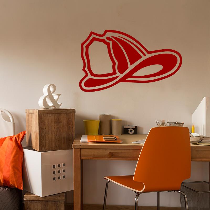 sticker pompier casque stickers salle de jeux b b. Black Bedroom Furniture Sets. Home Design Ideas