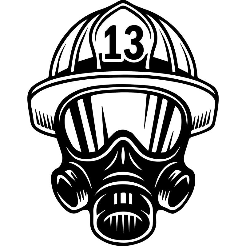 Sticker pompier casque stickers chambre enfants gar ons for Carrelage casco