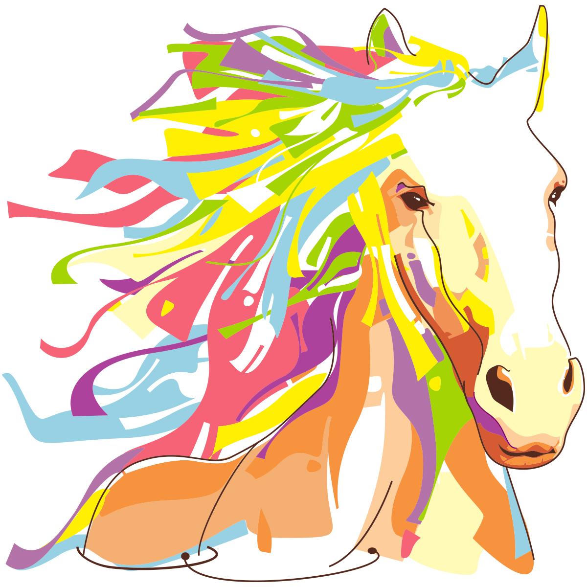 Préférence Sticker pop art cheval – Stickers Animaux Chevaux - Ambiance-sticker TR14