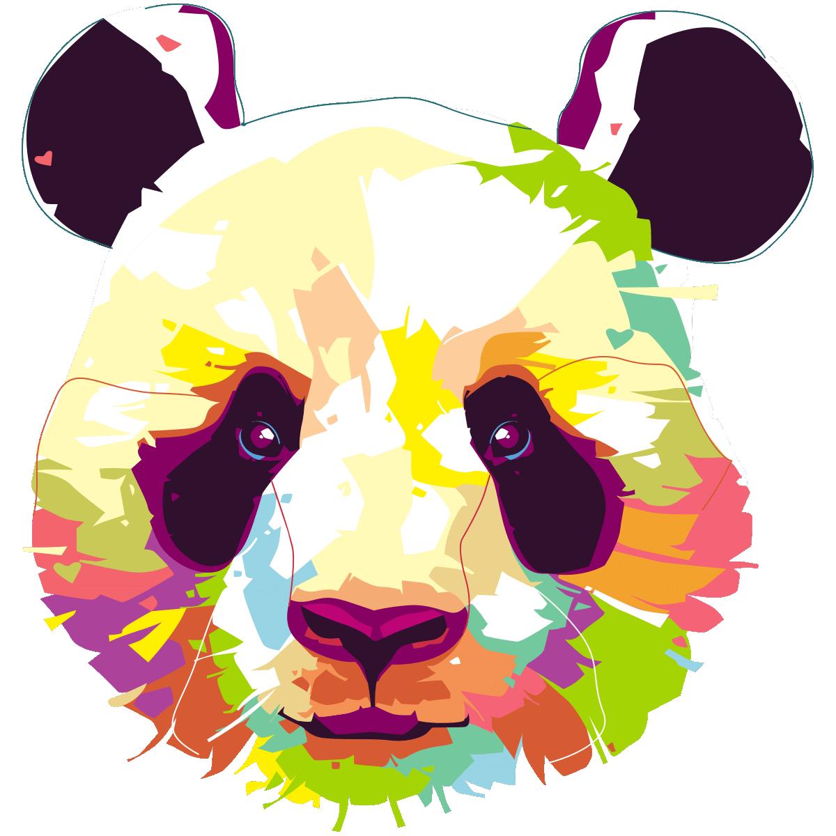 Célèbre Sticker pop art panda – Stickers Animaux Animaux de la jungle  OP97