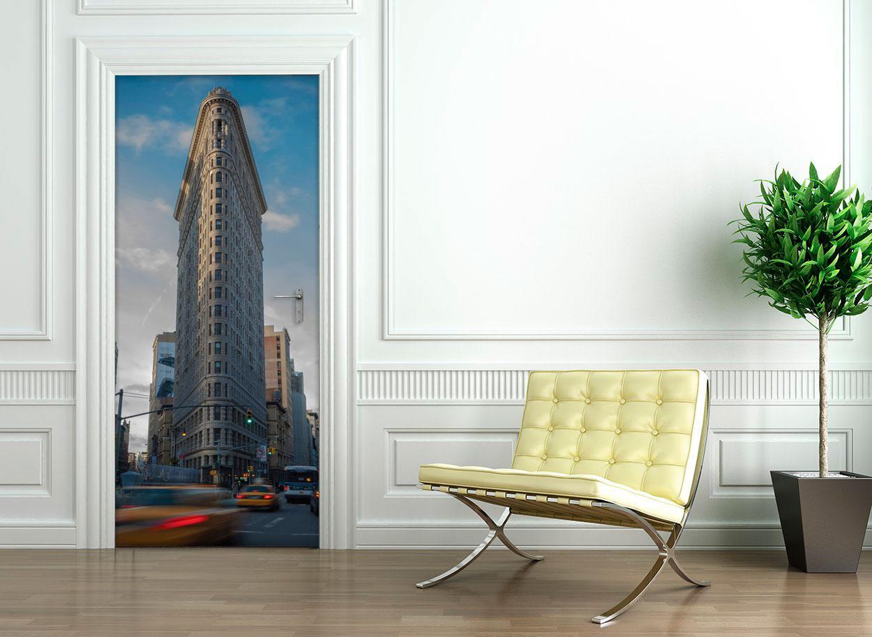 Sticker porte 204 x 83 cm new york flatiron building for Porte 83 204