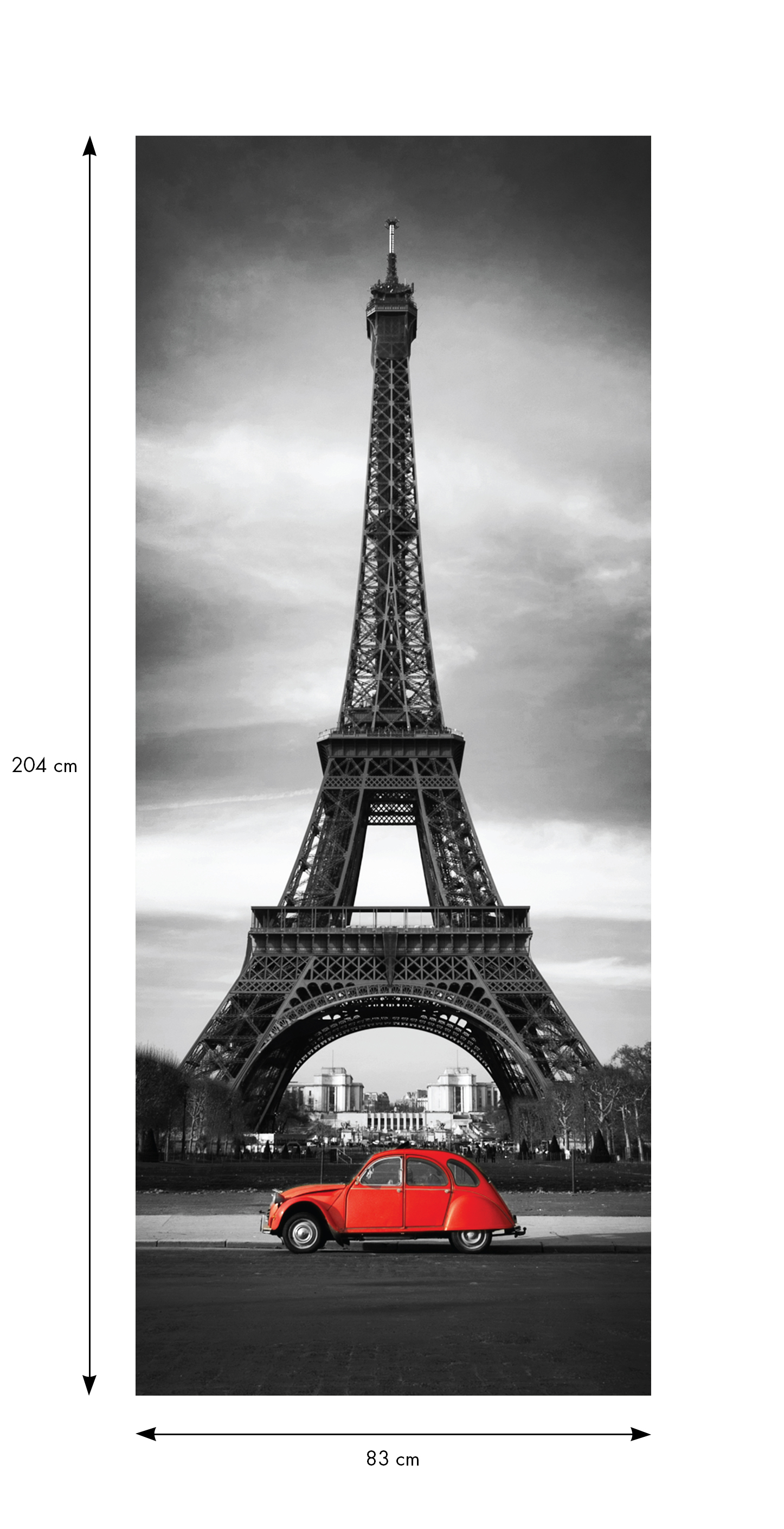 sticker porte 204 x 83 cm tour eiffel stickers villes et voyages paris ambiance sticker. Black Bedroom Furniture Sets. Home Design Ideas