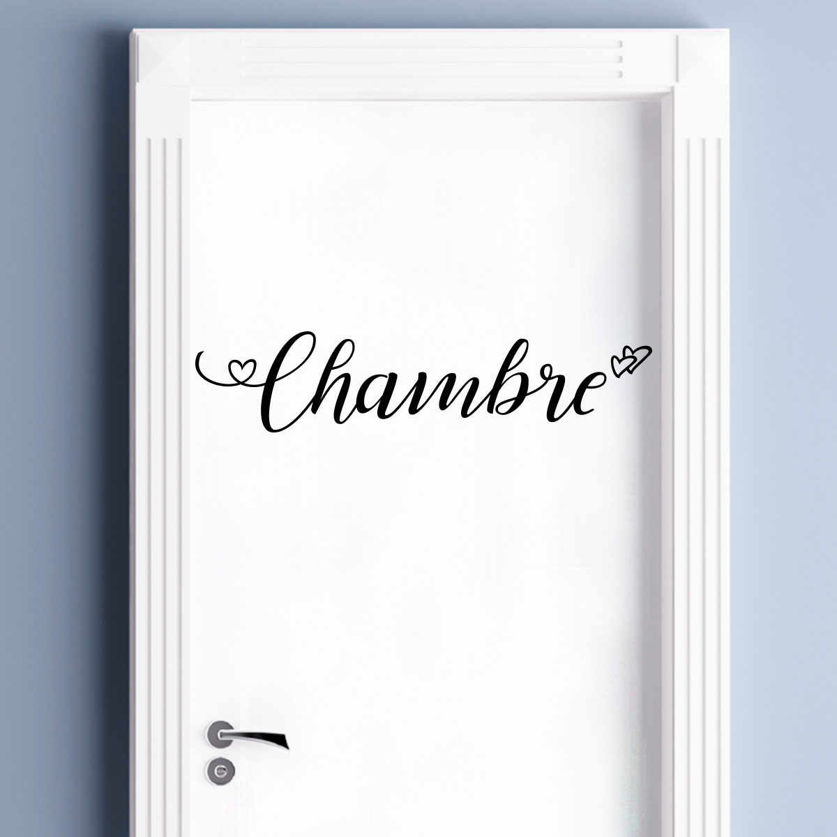 Sticker porte chambre amoureuse stickers f tes stickers for Stickers pour porte de chambre