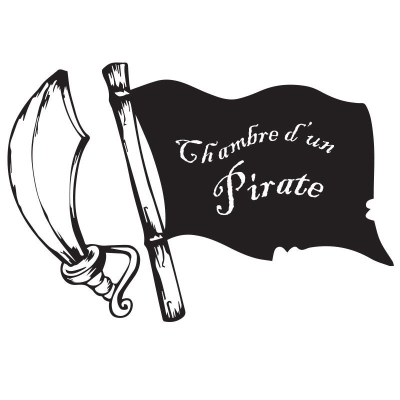 Sticker porte chambre d 39 un pirate stickers citations for Stickers pour porte de chambre