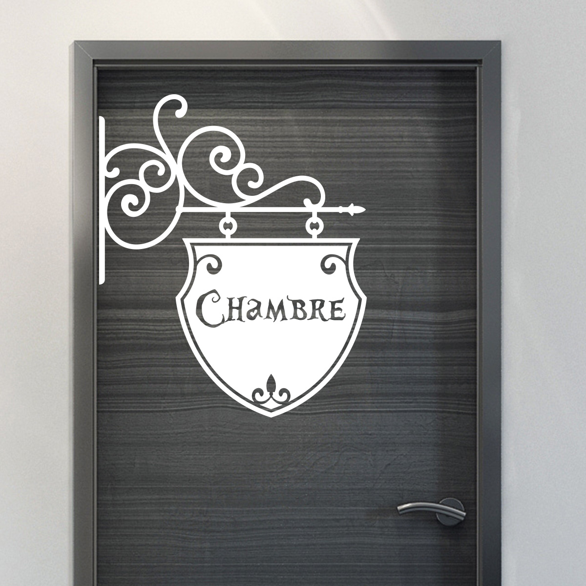 sticker porte chambre romantique stickers chambre ado. Black Bedroom Furniture Sets. Home Design Ideas