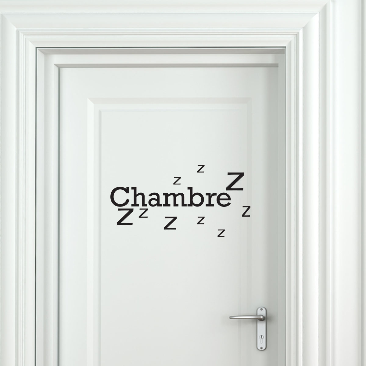 sticker porte chambre zzz stickers chambre texte ambiance sticker. Black Bedroom Furniture Sets. Home Design Ideas
