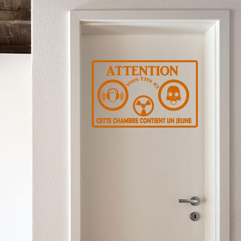 Stickers pour porte de chambre for Sticker chambre adulte