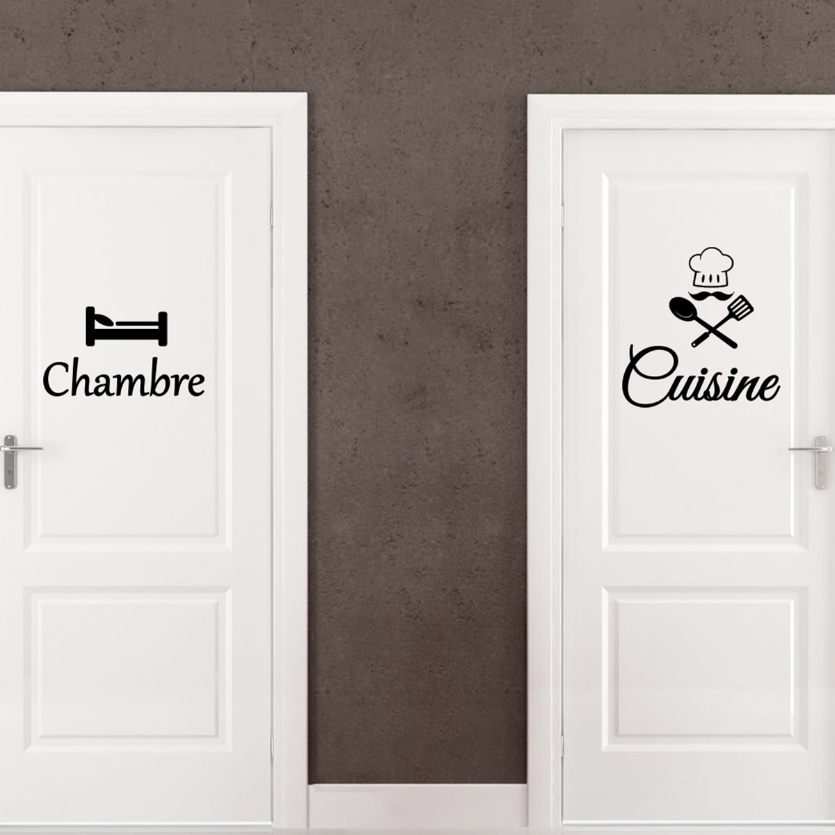 sticker porte cuisine chambre stickers cuisine textes et recettes ambiance sticker. Black Bedroom Furniture Sets. Home Design Ideas