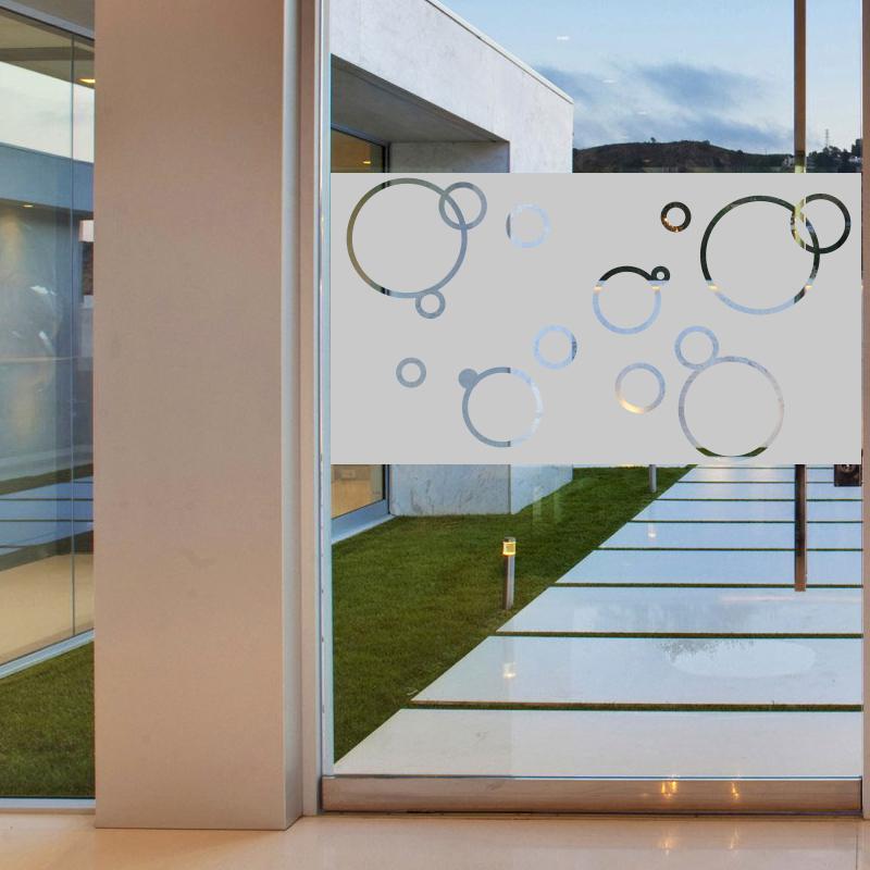 Stickers muraux pour portes de douche bulles de savon 100x55cm - Porte gel douche mural ...