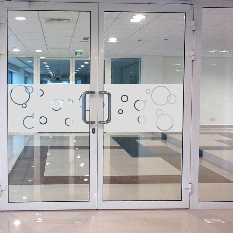 Stickers muraux pour portes de douche bulles de savon 200x55cm for Stickers porte de douche