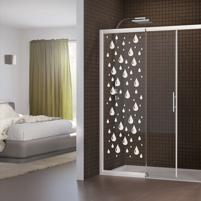 sticker porte de douche douce pluie stickers art et design bandes verticales ambiance sticker. Black Bedroom Furniture Sets. Home Design Ideas