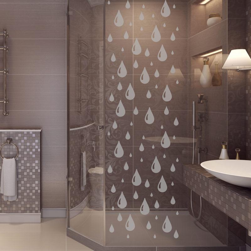sticker porte de douche douce pluie stickers art et design bandes verticales ambiance sticker. Black Bedroom Furniture Sets. Home Design Ideas