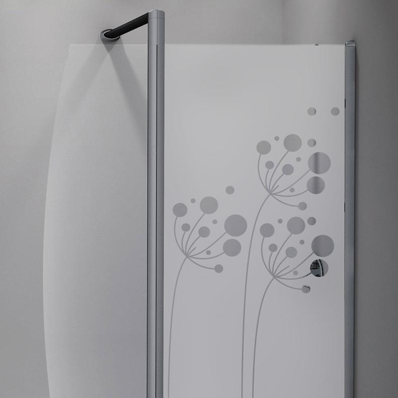Sticker porte de douche fleurs artistiques stickers for Stickers porte de douche